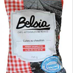 Chips artisanales Belsia au piment d'Espelette